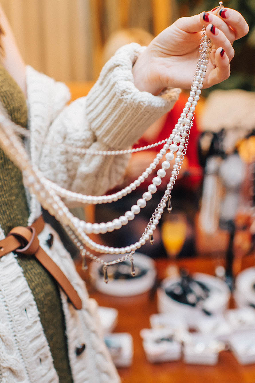 Ожерелье из жемчуга Chains&Pearls