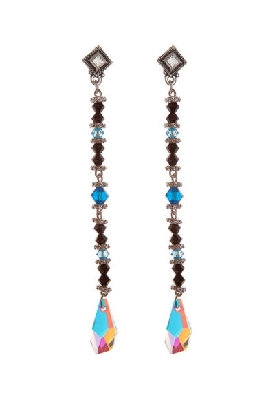 Серьги Swarovski Drops Black&Blue, Sense of Color