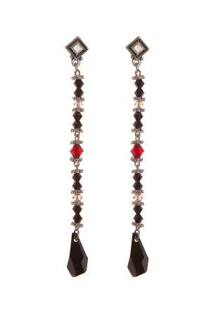 Серьги Swarovski Drops Black&Red, Sense of Color