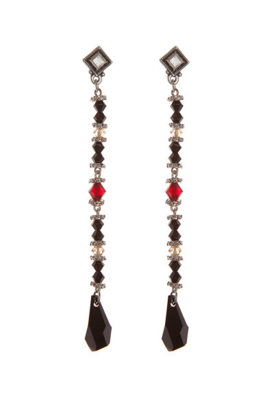 Серьги Swarovski Drops Black&Red, Sense of Color
