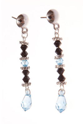 Серьги Swarovski Drops Light Blue, Sense of Color