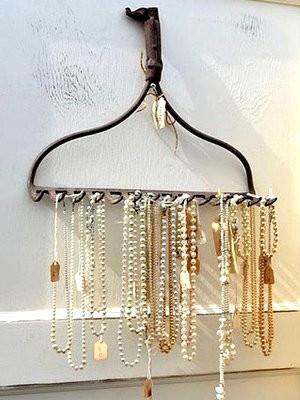 Хранение украшений, идеи, необычная вешалка