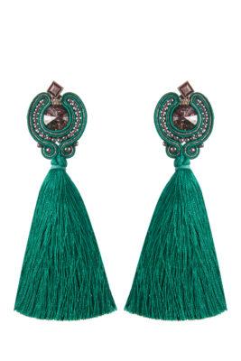 Серьги Swarovski Textile Jewelry Tassel