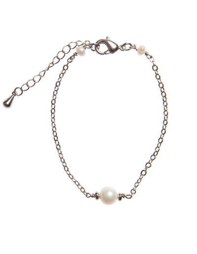 Браслет с жемчугом Shy Pearls (silver)