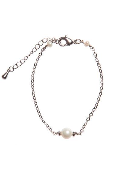 Браслет с жемчугом серебро фото купить в Москве интернет магазин бижутерии