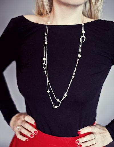 Колье Ovals with Pearls