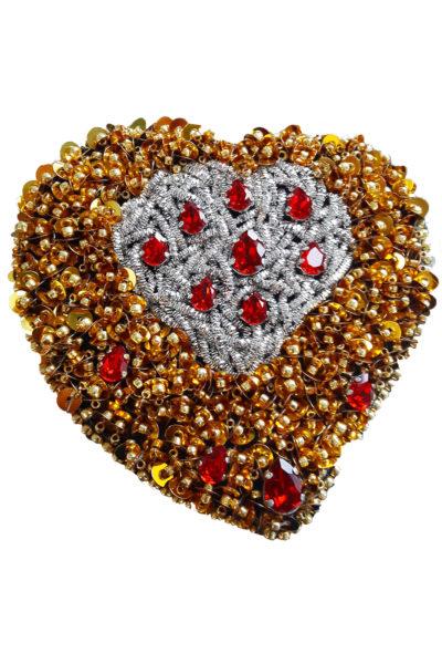 Брошь Dali Heart