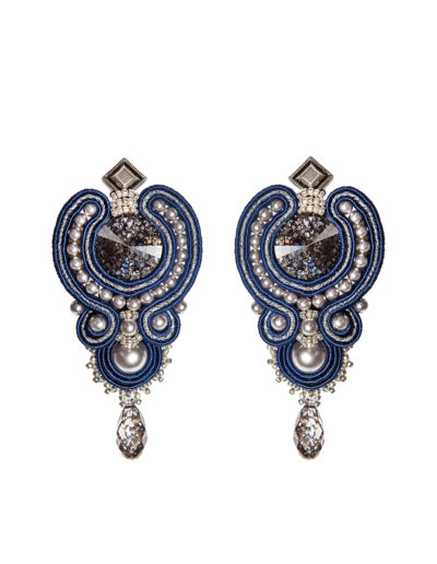 Серьги Swarovski Textile Jewelry Navy